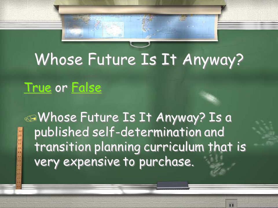 Whose Future Is It Anyway