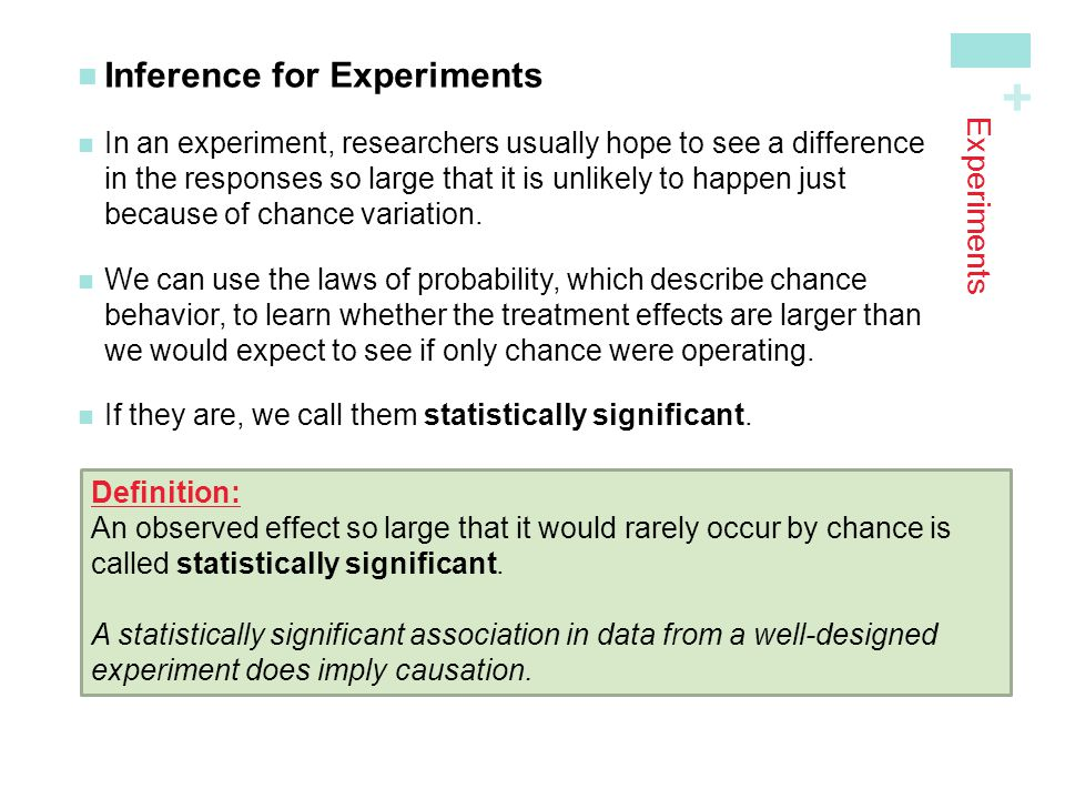 Inference for Experiments