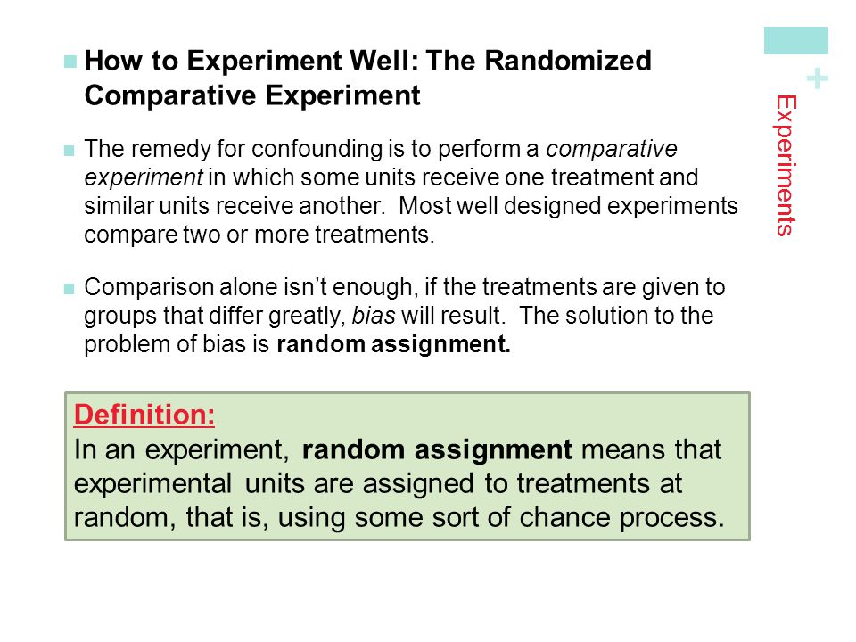 How to Experiment Well: The Randomized Comparative Experiment