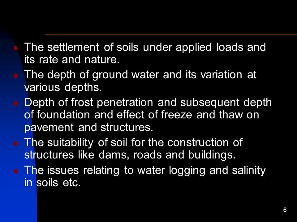 The settlement of soils under applied loads and its rate and nature.