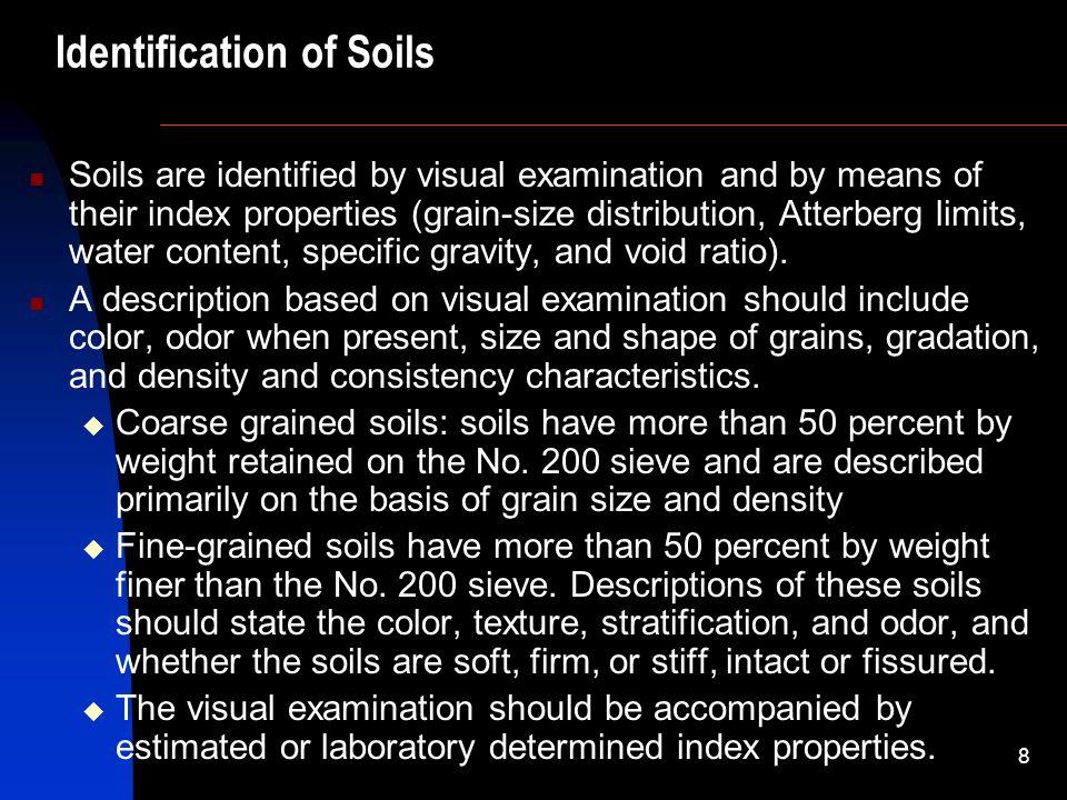Identification of Soils