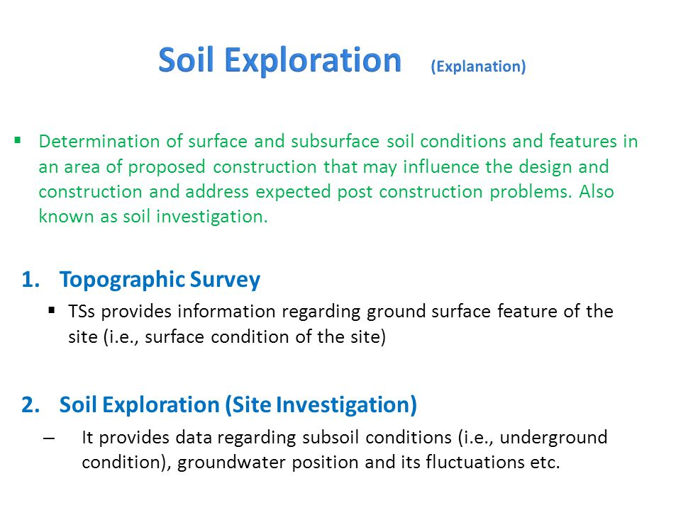 Soil Exploration (Explanation)