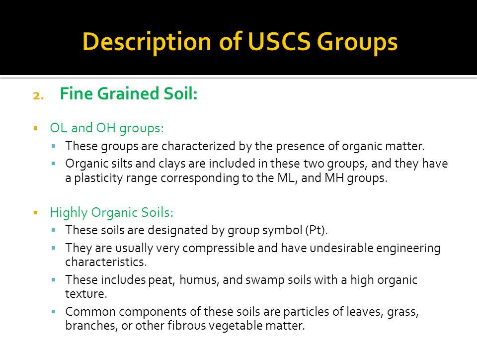 Description of USCS Groups