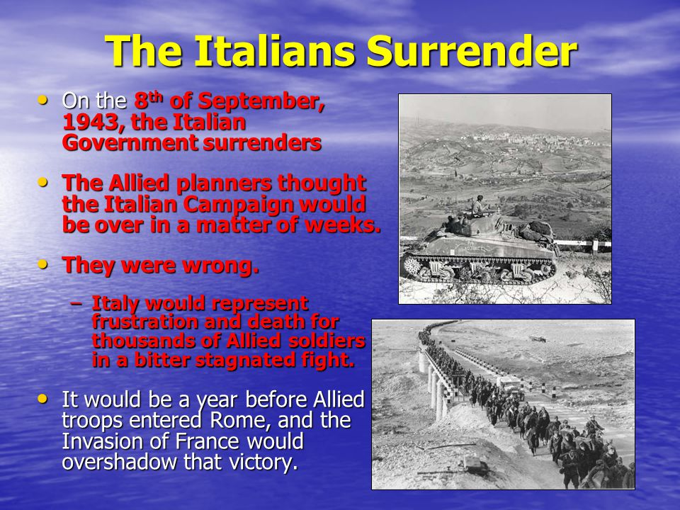 The Italians Surrender