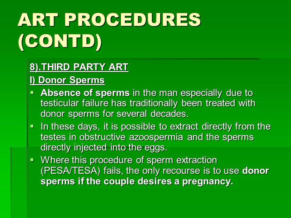 ART PROCEDURES (CONTD)