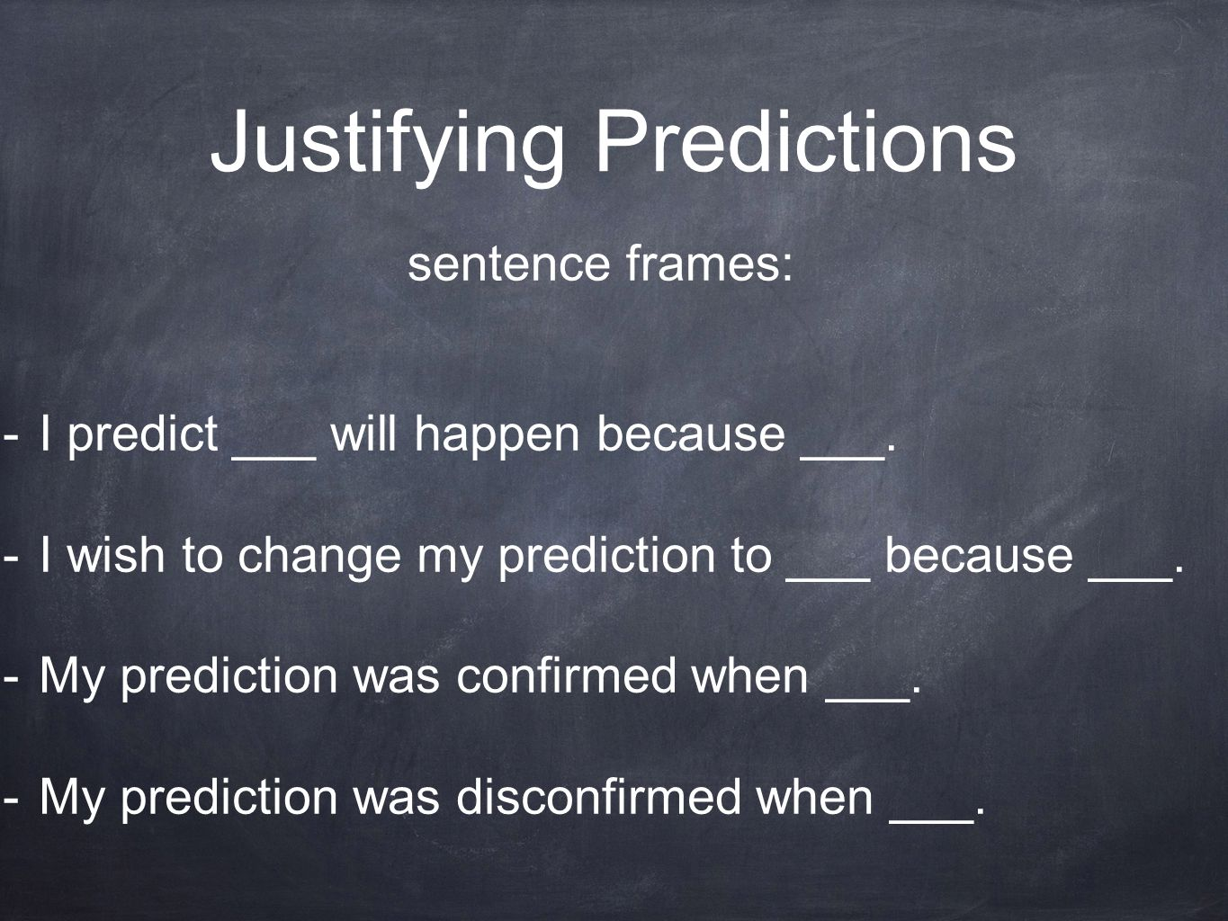 Justifying Predictions