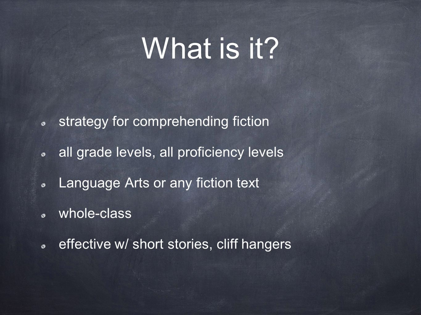 What is it strategy for comprehending fiction