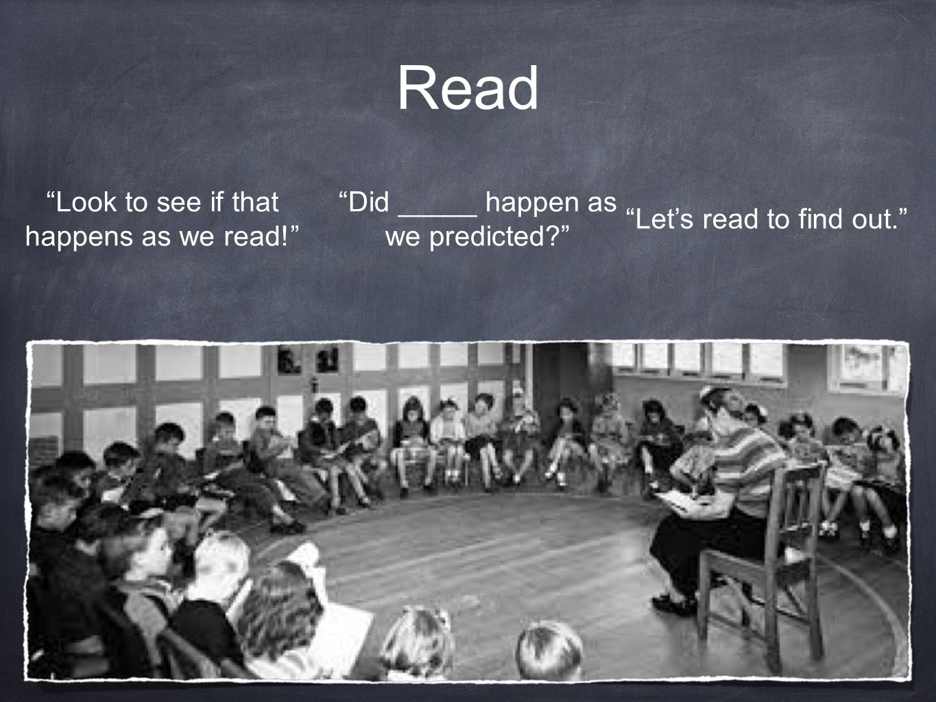Read Look to see if that happens as we read!