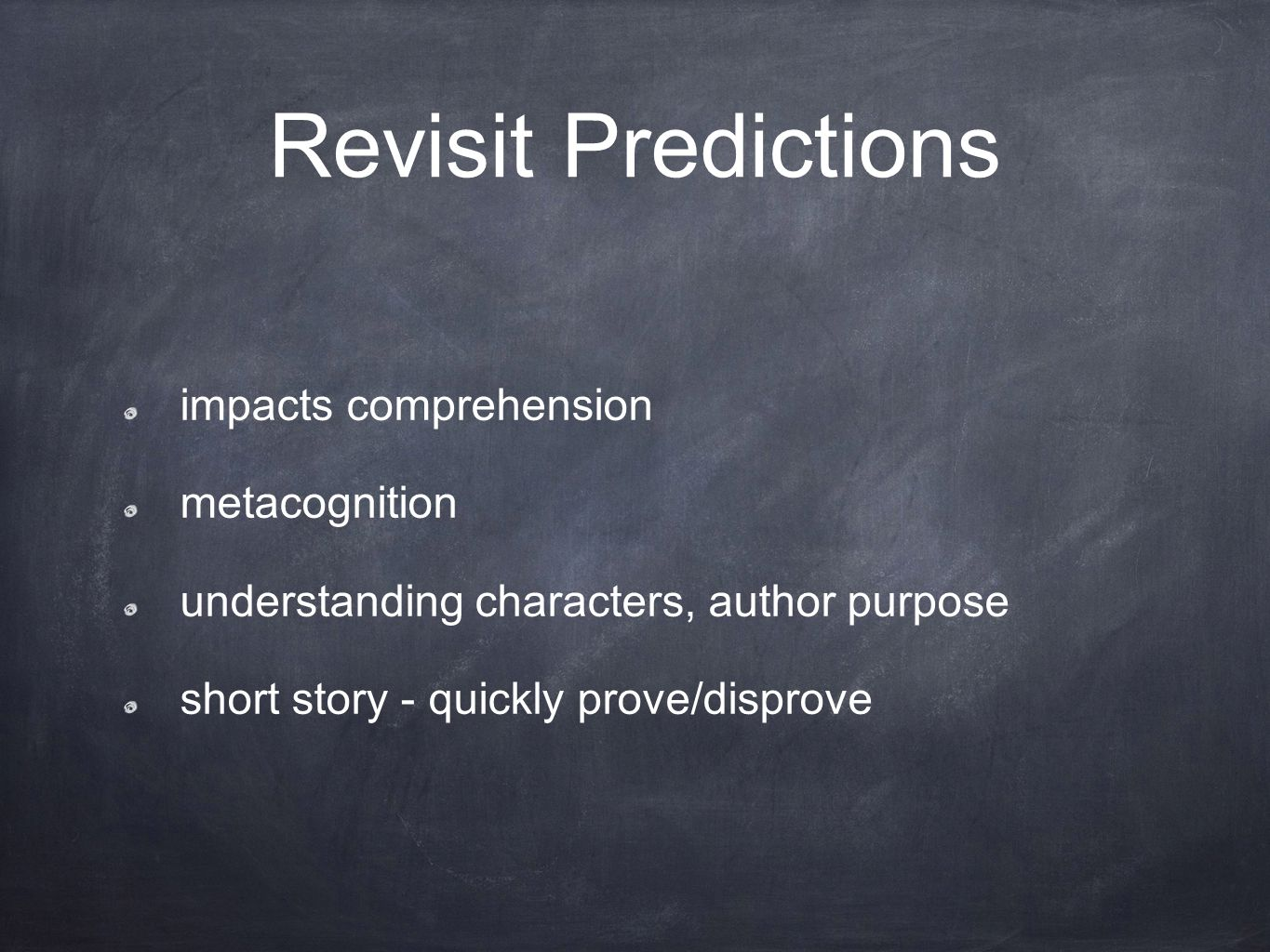 Revisit Predictions impacts comprehension metacognition