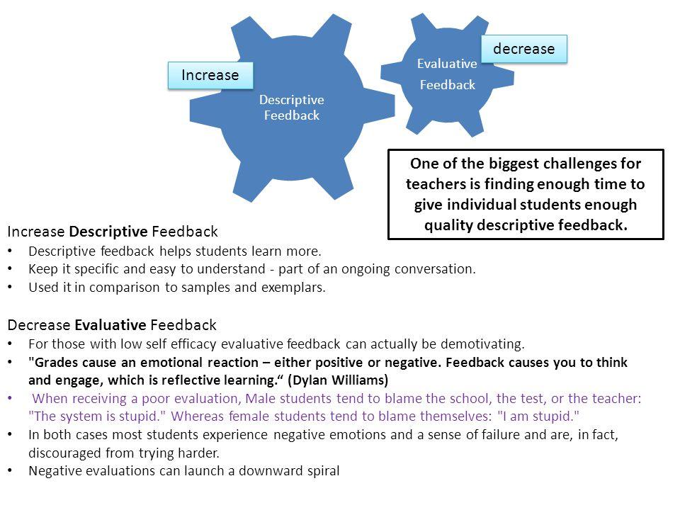 Increase Descriptive Feedback
