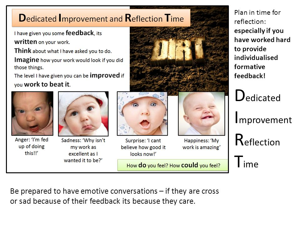Dedicated Improvement Reflection Time