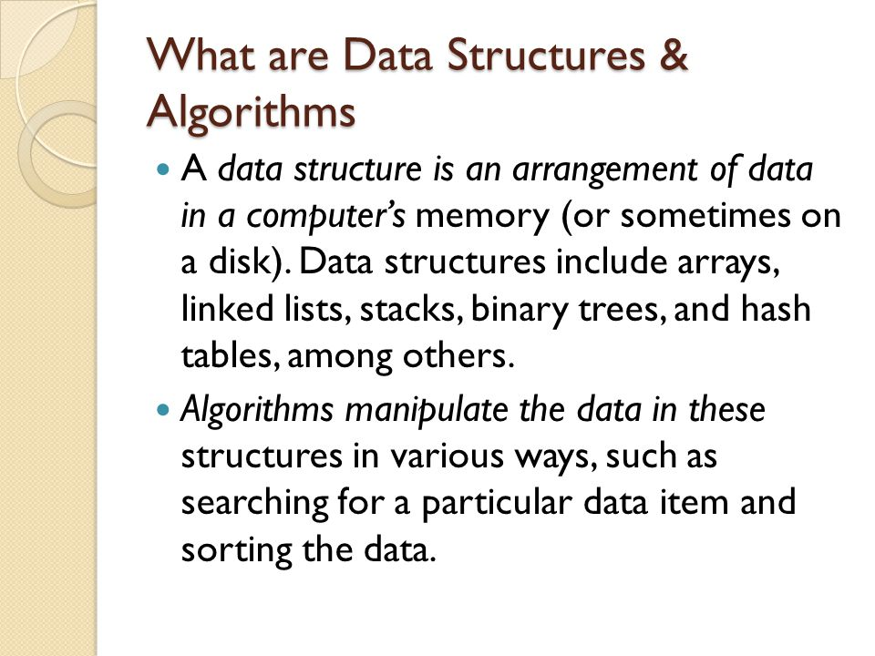 What are Data Structures & Algorithms