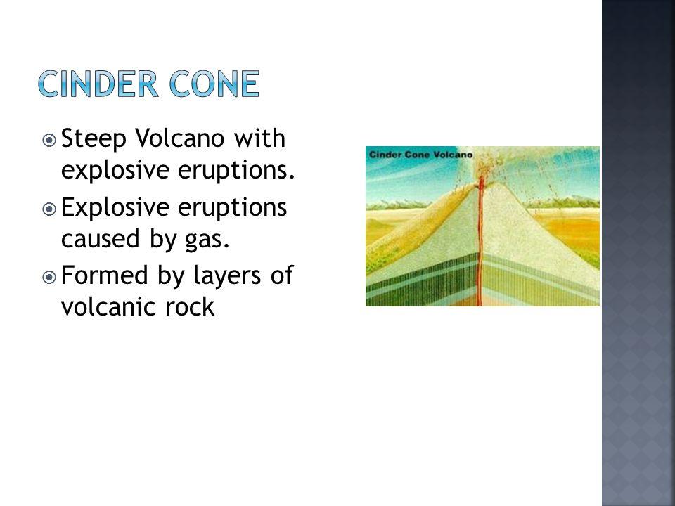 Cinder Cone Steep Volcano with explosive eruptions.