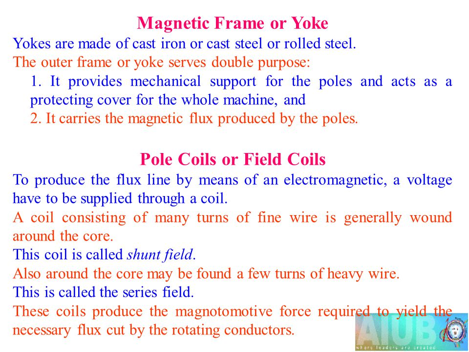 Pole Coils or Field Coils