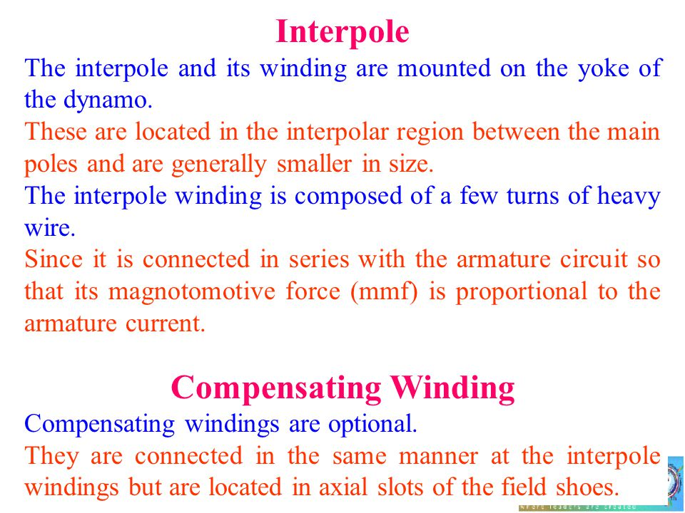 Interpole Compensating Winding