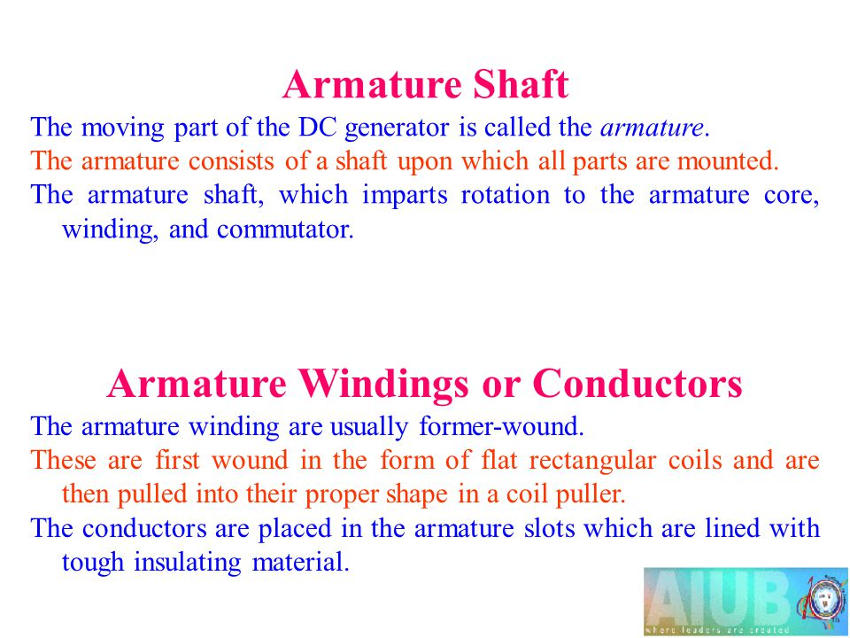Armature Windings or Conductors