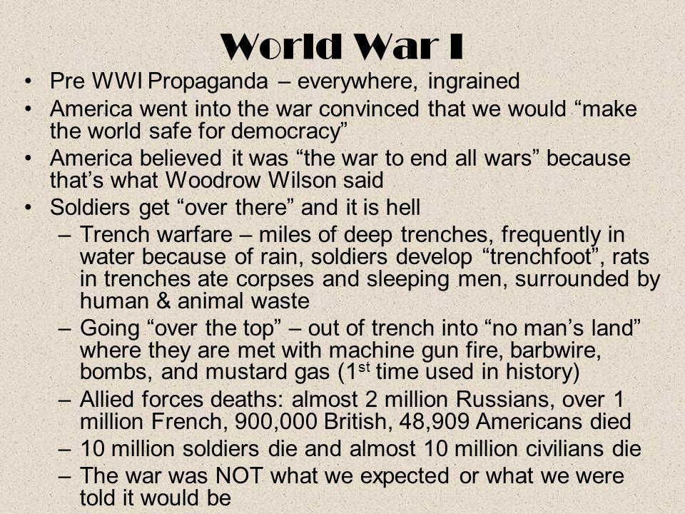 World War I Pre WWI Propaganda – everywhere, ingrained
