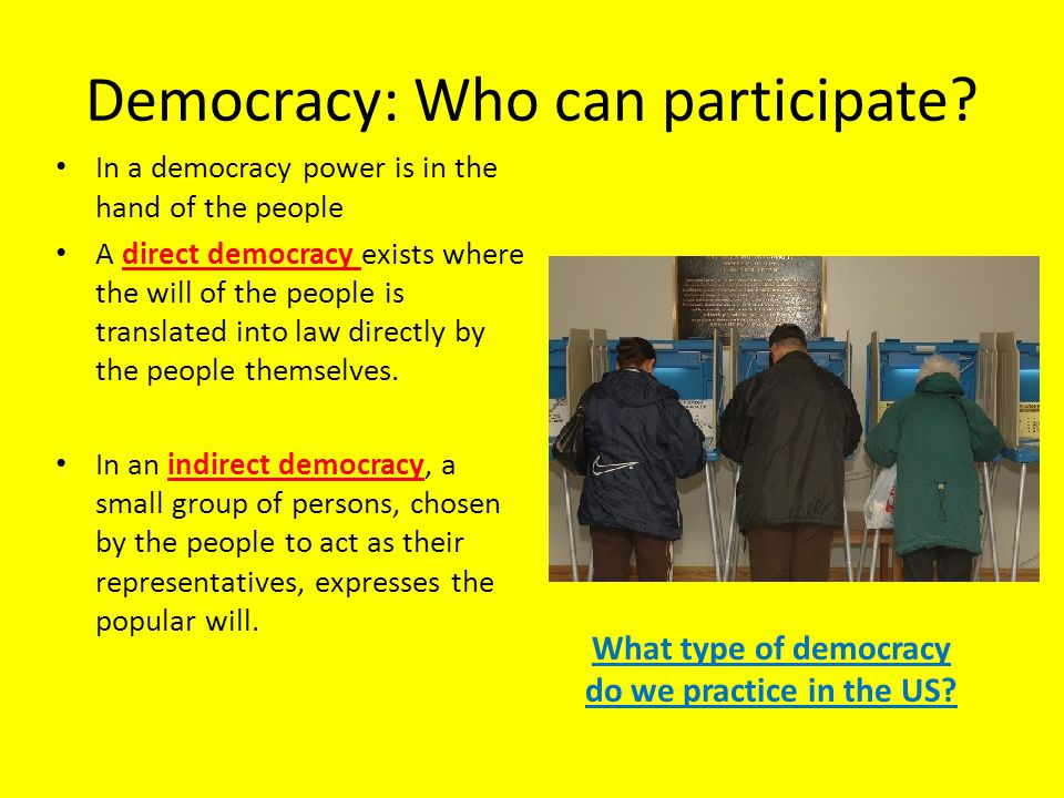 Democracy: Who can participate