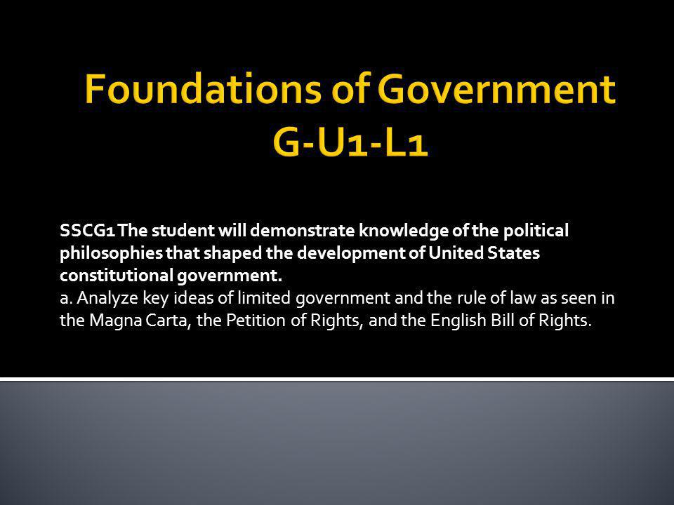 Foundations of Government G-U1-L1