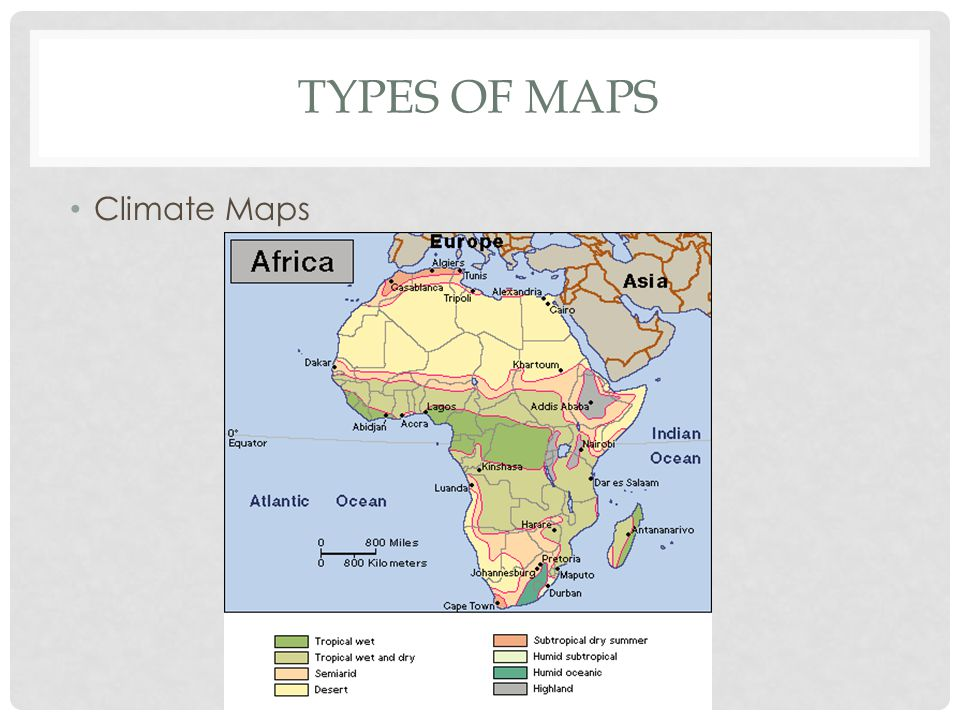 Types of Maps Climate Maps