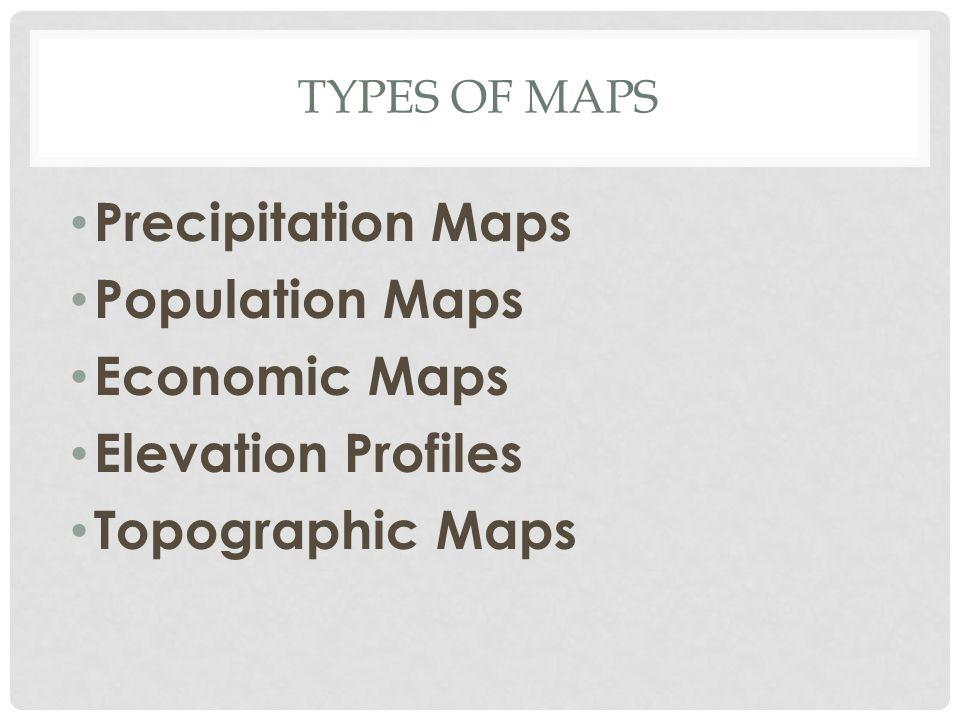 Precipitation Maps Population Maps Economic Maps Elevation Profiles