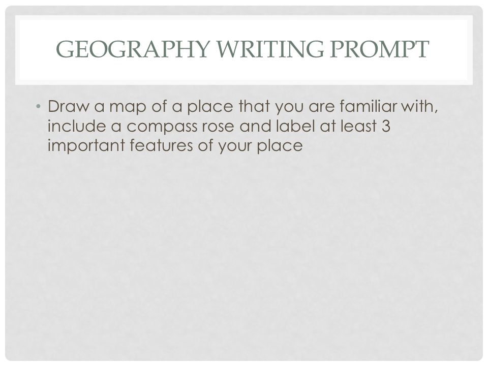 Geography writing prompt