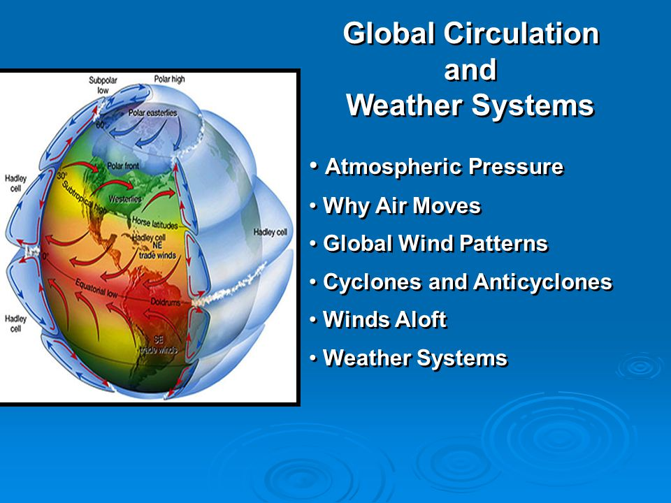 Global Circulation and Weather Systems