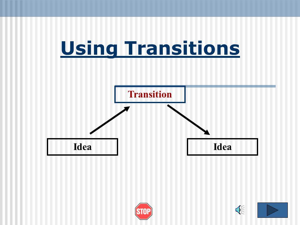 Using Transitions Transition Idea Idea