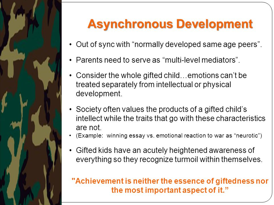 Asynchronous Development