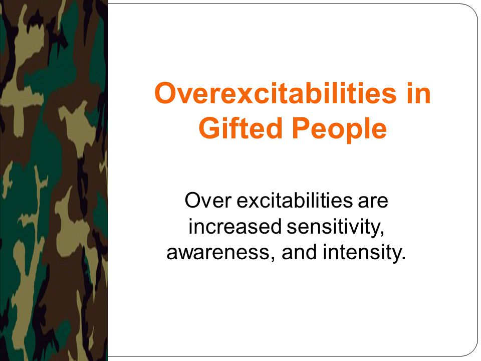 Overexcitabilities in Gifted People