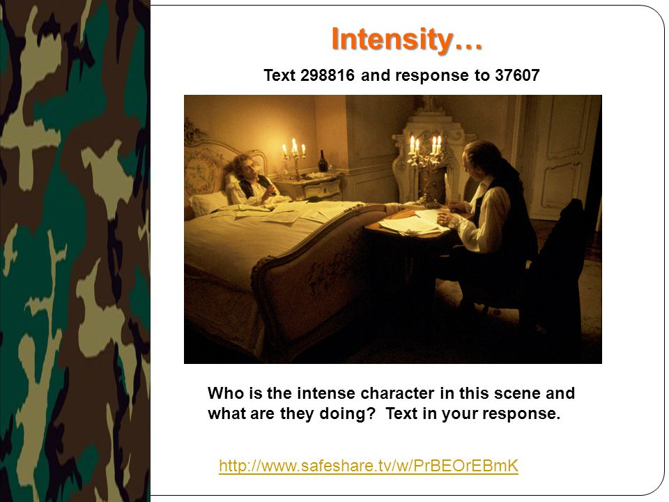 Intensity… Text and response to 37607