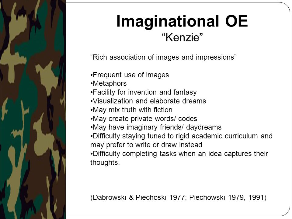 Imaginational OE Kenzie Rich association of images and impressions