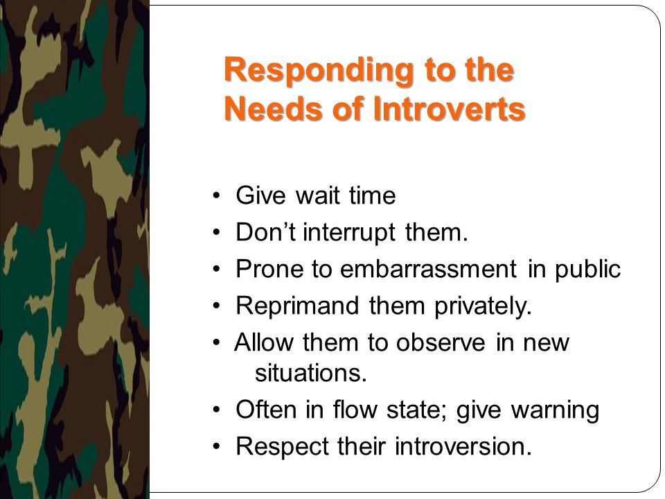 Responding to the Needs of Introverts