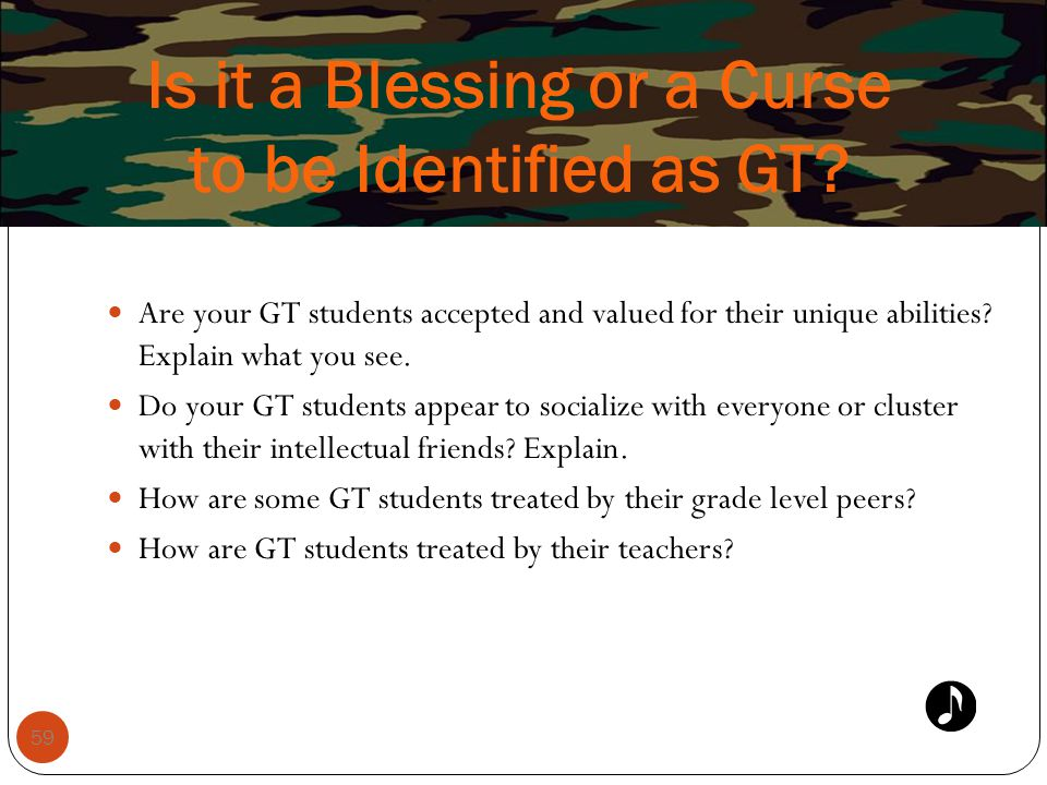 Is it a Blessing or a Curse to be Identified as GT