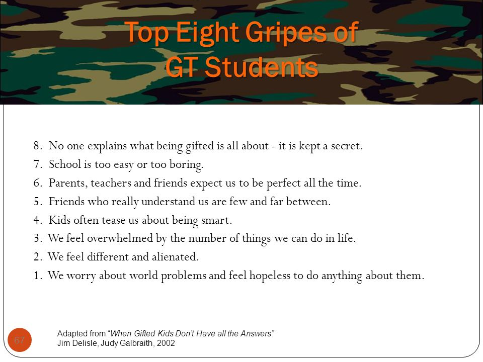 Top Eight Gripes of GT Students
