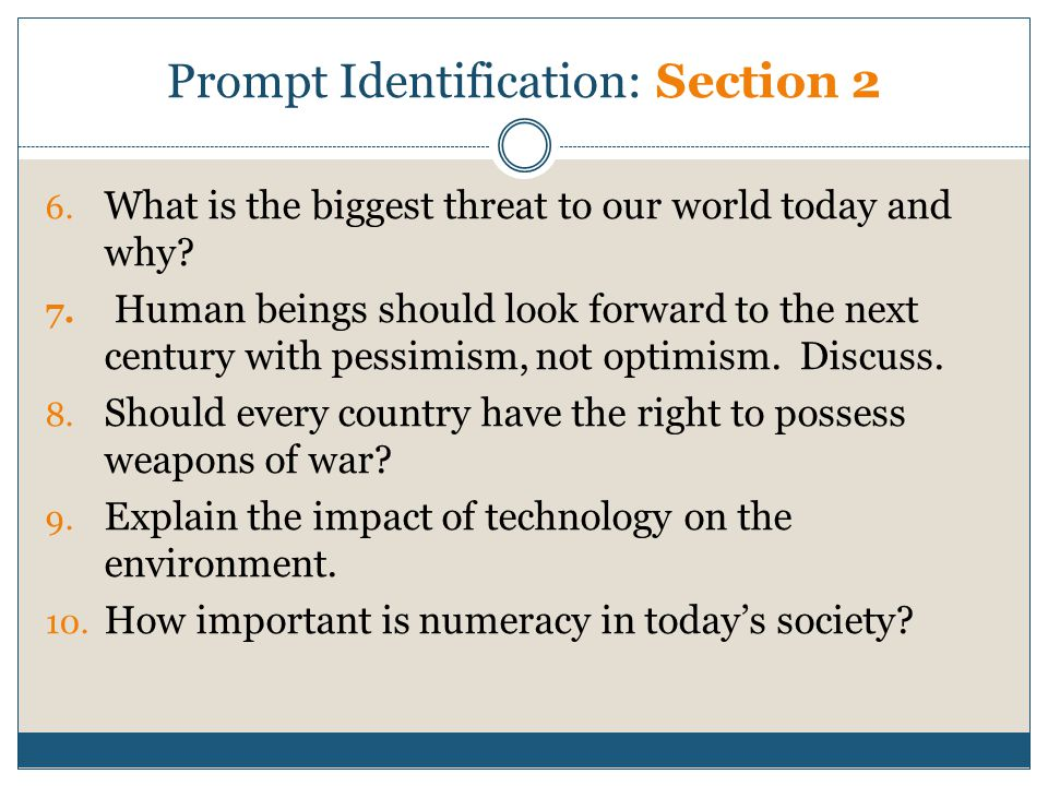 Prompt Identification: Section 2