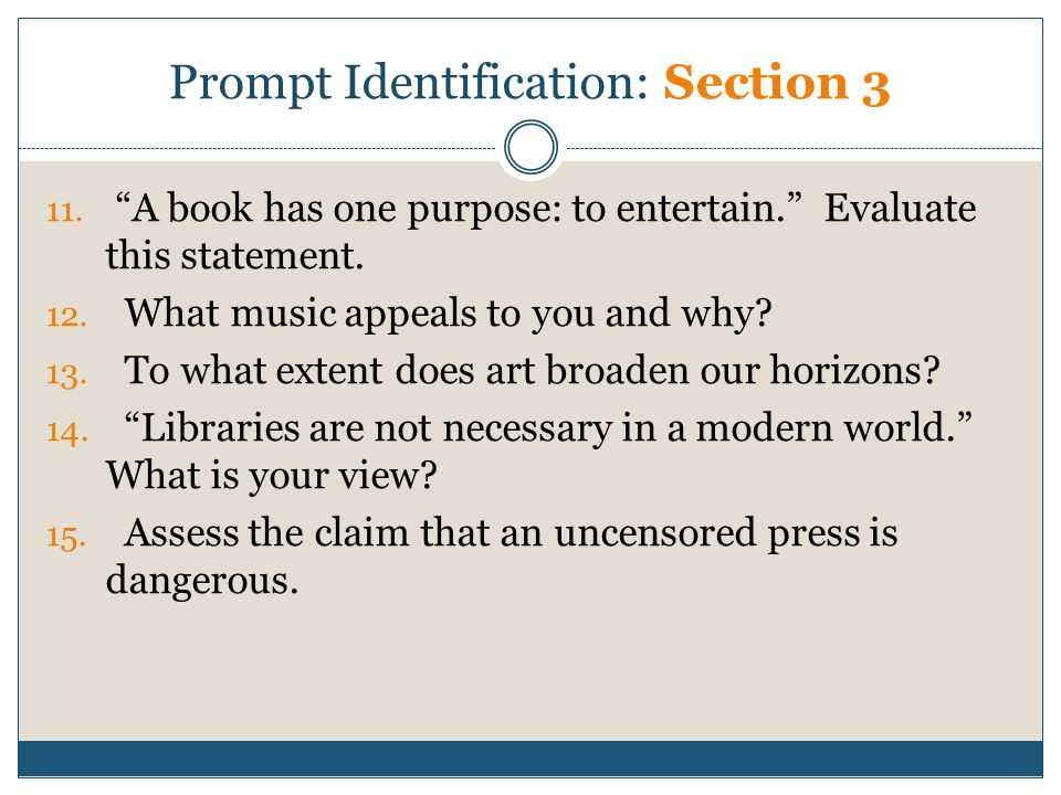 Prompt Identification: Section 3