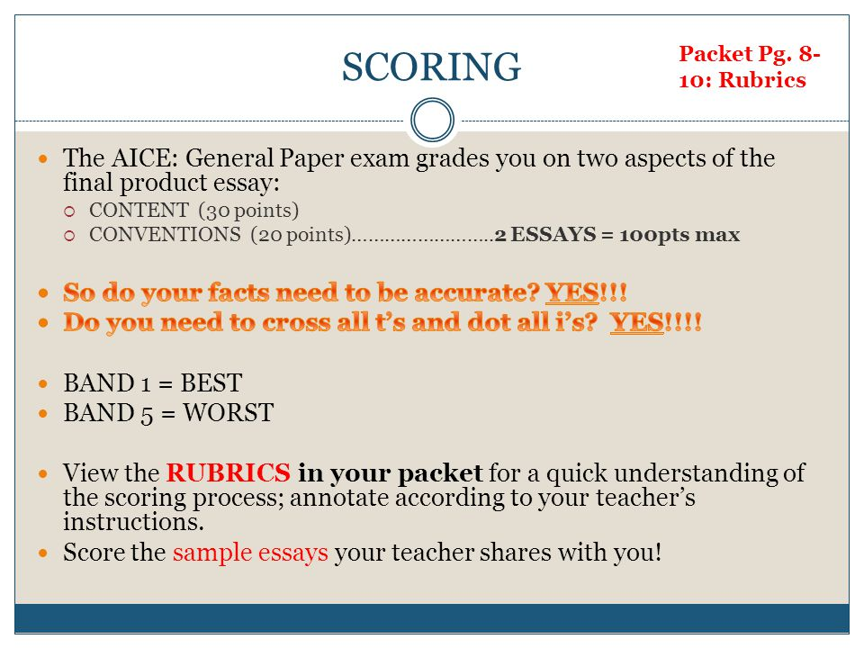 Writing The Aice General Paper An Overview  Ppt Download The Aice General Paper Exam