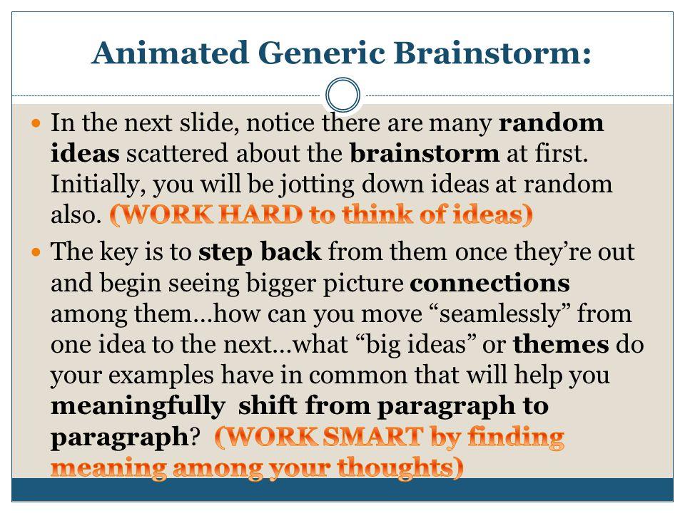 Animated Generic Brainstorm: