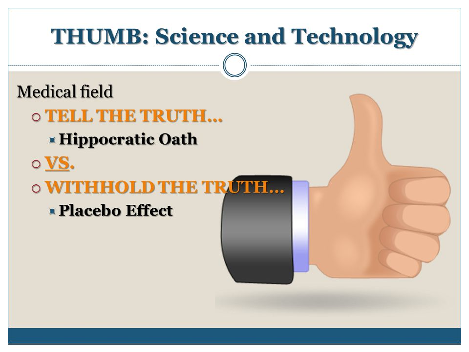 THUMB: Science and Technology