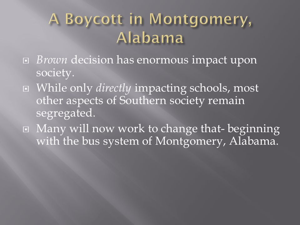 A Boycott in Montgomery, Alabama