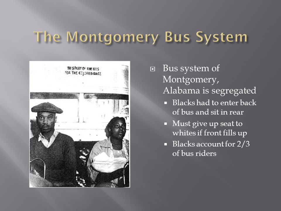 The Montgomery Bus System