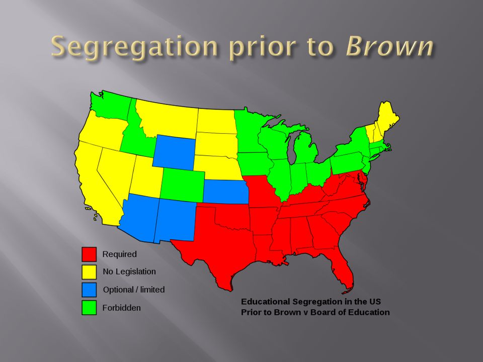 Segregation prior to Brown