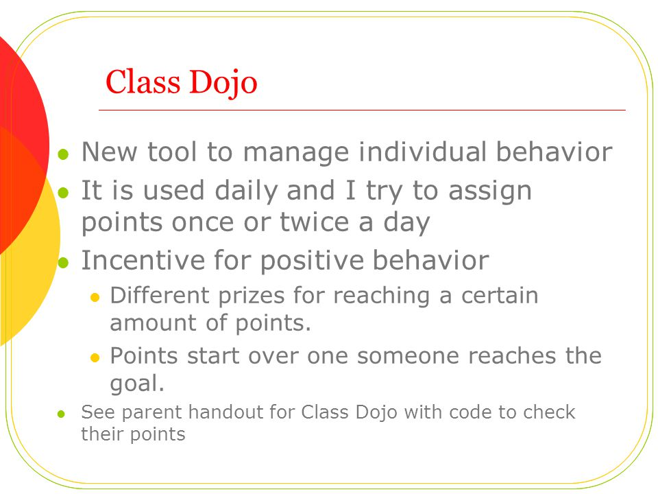 Class Dojo New tool to manage individual behavior