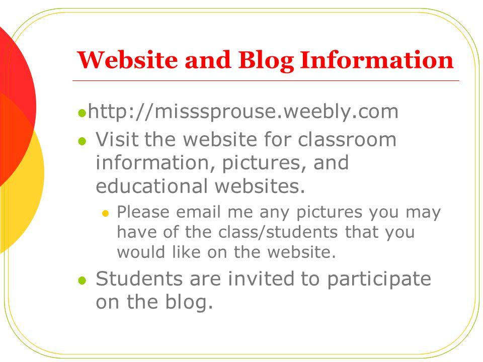 Website and Blog Information
