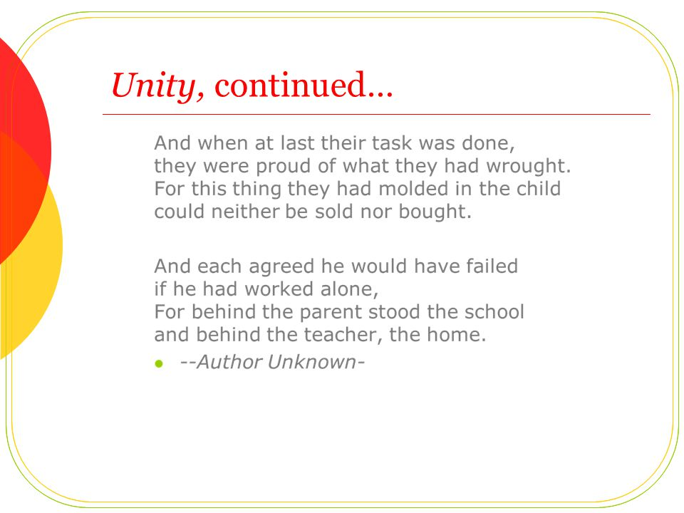 Unity, continued…