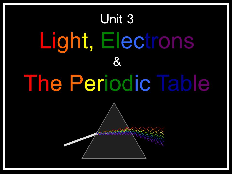Unit 3 Light, Electrons & The Periodic Table