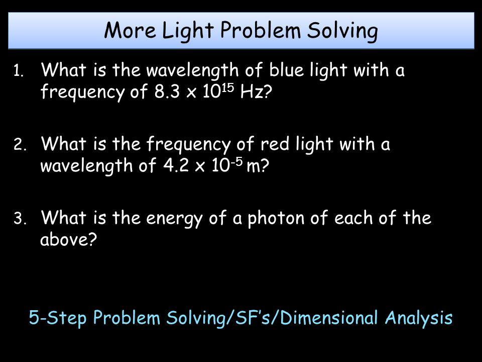 More Light Problem Solving