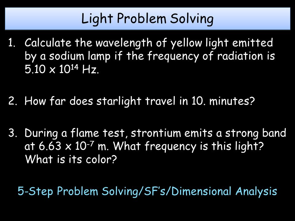 5-Step Problem Solving/SF's/Dimensional Analysis