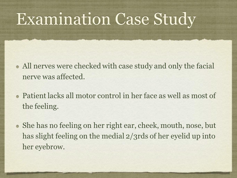 Examination Case Study